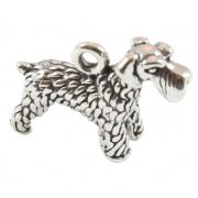 Giant Schnauzer Dog 3D Sterling Silver Charms